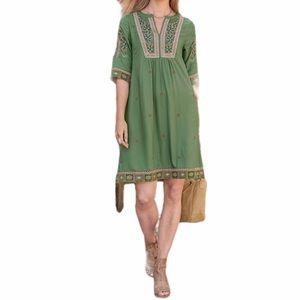 Sundance LUCIENNE DRESS Embroidered Floral Dress